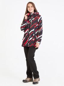 Спортивный костюм женский осенний весенний softshell красного цвета купить оптом в интернет магазине MTFORCE 01923-1Kr