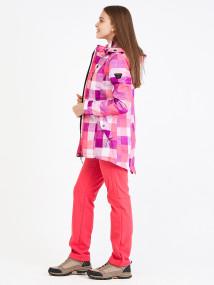 Спортивный костюм женский осенний весенний softshell розового цвета купить оптом в интернет магазине MTFORCE 01923R