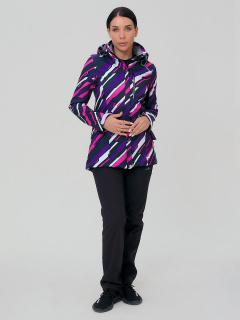 Спортивный костюм женский осенний весенний softshell фиолетового цвета купить оптом в интернет магазине MTFORCE 01923-1F