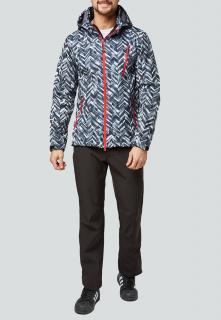 Спортивный костюм мужской осенний весенний softshell темно-серого цвета купить оптом в интернет магазине MTFORCE 01941TС