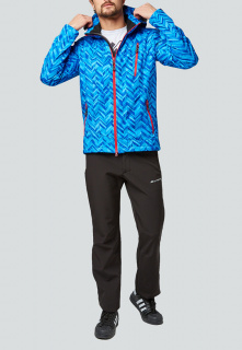 Спортивный костюм мужской осенний весенний softshell синего цвета купить оптом в интернет магазине MTFORCE 01941S