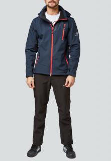 Спортивный костюм мужской осенний весенний softshell темно-синего цвета купить оптом в интернет магазине MTFORCE 01942TS