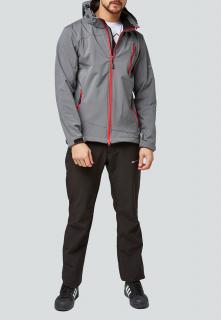 Спортивный костюм мужской осенний весенний softshell серого цвета купить оптом в интернет магазине MTFORCE 01942Sr