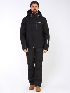 Горнолыжный костюм мужской зимний черного цвета купить оптом в интернет магазине MTFORCE 01947Ch