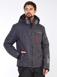 Купить оптом мужскую зимнюю горнолыжную куртку большого размера темно-серого цвета в интернет магазине MTFORCE 19471TC