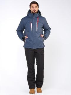 Горнолыжный костюм мужской зимний темно-синего цвета купить оптом в интернет магазине MTFORCE 01966TS