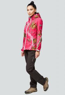 Спортивный костюм женский осенний весенний softshell розового цвета купить оптом в интернет магазине MTFORCE 01977R