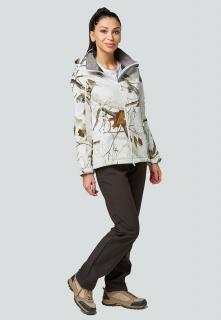 Спортивный костюм женский осенний весенний softshell белого цвета купить оптом в интернет магазине MTFORCE 01977Bl