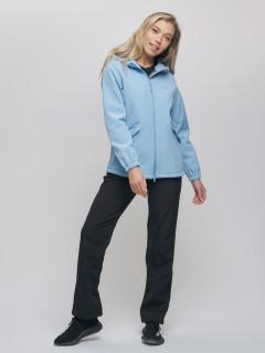 Спортивный костюм женский демисезонная softshell голубого цвета купить оптом в интернет магазине MTFORCE 020014Gl