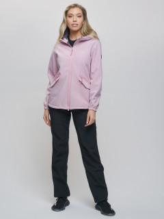 Спортивный костюм женский демисезонная softshell розового цвета купить оптом в интернет магазине MTFORCE 020014R