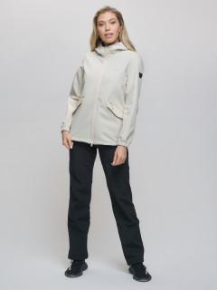 Спортивный костюм женский демисезонная softshell бежевого цвета купить оптом в интернет магазине MTFORCE 020014B
