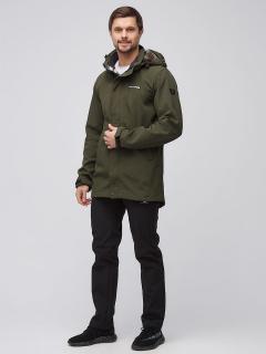 Спортивный костюм мужской осенний весенний softshell цвета хаки купить оптом в интернет магазине MTFORCE 02010Kh