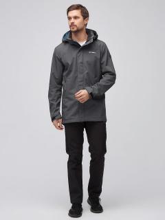 Спортивный костюм мужской осенний весенний softshell темно-серого цвета купить оптом в интернет магазине MTFORCE 02010TC