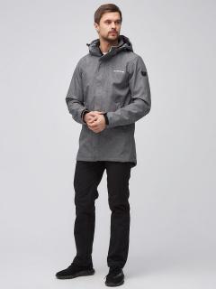 Спортивный костюм мужской осенний весенний softshell серого цвета купить оптом в интернет магазине MTFORCE 02010Sr