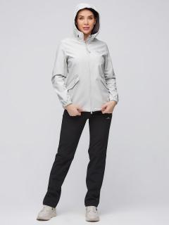 Спортивный костюм женский осенний весенний softshell светло-серого цвета купить оптом в интернет магазине MTFORCE 02014SS