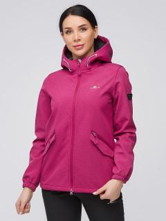 Спортивный костюм женский осенний весенний softshell малинового цвета купить оптом в интернет магазине MTFORCE 02014М