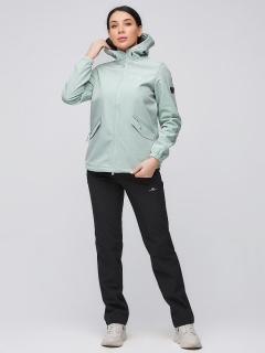 Спортивный костюм женский осенний весенний softshell салатового цвета купить оптом в интернет магазине MTFORCE 02014Sl