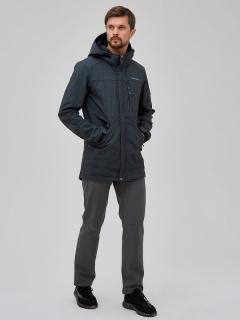 Мужской осенний весенний костюм спортивный softshell серого цвета купить оптом в интернет магазине MTFORCE 02018Sr