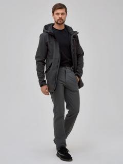 Мужской осенний весенний костюм спортивный softshell темно-серого цвета купить оптом в интернет магазине MTFORCE 02018TC