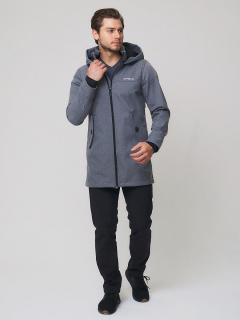 Мужской осенний весенний костюм спортивный softshell серого цвета купить оптом в интернет магазине MTFORCE 02020Sr