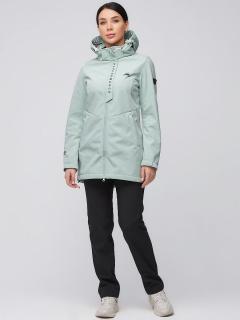 Спортивный костюм женский осенний весенний softshell салатового цвета купить оптом в интернет магазине MTFORCE 02021Sl