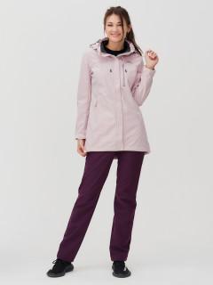 Женский осенний весенний костюм спортивный softshell розового цвета купить оптом в интернет магазине MTFORCE 02022R