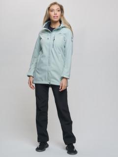 Женский осенний весенний костюм спортивный softshell бирюзового цвета купить оптом в интернет магазине MTFORCE 02022Br