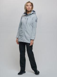 Женский осенний весенний костюм спортивный softshell светло-серого цвета купить оптом в интернет магазине MTFORCE 02022SS