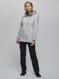 Женский осенний весенний костюм спортивный softshell бежевого  цвета купить оптом в интернет магазине MTFORCE 02022B
