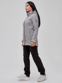 Женский осенний весенний костюм спортивный softshell серого цвета купить оптом в интернет магазине MTFORCE 02023P