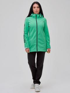 Женский осенний весенний костюм спортивный softshell зеленого цвета купить оптом в интернет магазине MTFORCE 02023Z