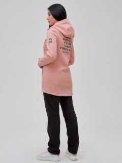 Женский осенний весенний костюм спортивный softshell персикового цвета купить оптом в интернет магазине MTFORCE 02023P
