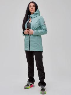 Женский осенний весенний костюм спортивный softshell бирюзового цвета купить оптом в интернет магазине MTFORCE 02023Br