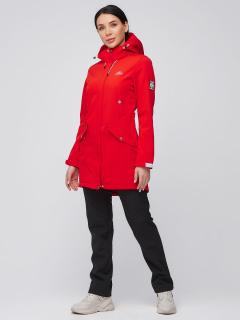 Спортивный костюм женский осенний весенний softshell красного цвета купить оптом в интернет магазине MTFORCE 02026Kr