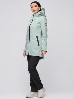 Спортивный костюм женский осенний весенний softshell салатового цвета купить оптом в интернет магазине MTFORCE 02028Sl