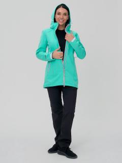 Женский осенний весенний костюм спортивный softshell салатового цвета купить оптом в интернет магазине MTFORCE 02029Sl