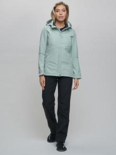 Женский осенний весенний костюм спортивный softshell бирюзового цвета купить оптом в интернет магазине MTFORCE 02035Br