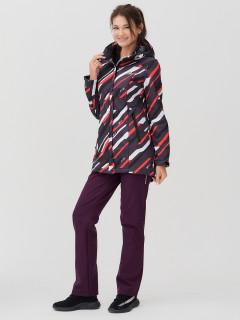Женский осенний весенний костюм спортивный softshell красного цвета купить оптом в интернет магазине MTFORCE 02037-1Kr