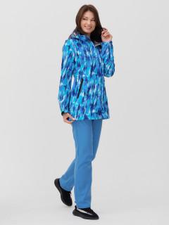 Женский осенний весенний костюм спортивный softshell синего цвета купить оптом в интернет магазине MTFORCE 02037-1S