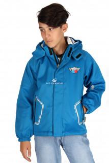 Купить оптом куртку демисезонную для мальчика синего цвета 029-2S в интернет магазине MTFORCE.RU