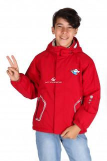 Купить оптом куртку демисезонную для мальчика красного цвета 029-2Kr в интернет магазине MTFORCE.RU