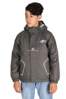 Купить оптом куртку демисезонную для мальчика темно-серого цвета 029-2TC в интернет магазине MTFORCE.RU
