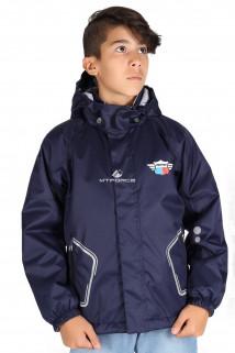 Купить оптом куртку демисезонную для мальчика темно-синего цвета 029-2TS в интернет магазине MTFORCE.RU
