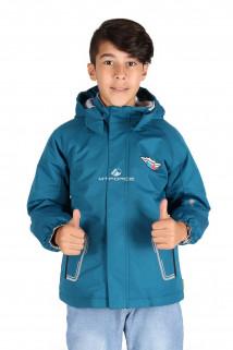 Купить оптом куртку демисезонную для мальчика синего цвета 029-1S в интернет магазине MTFORCE.RU