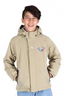 Купить оптом куртку демисезонную для мальчика бежевого цвета 029-2B в интернет магазине MTFORCE.RU