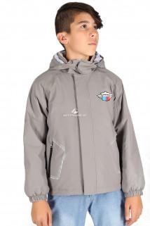 Купить оптом куртку демисезонную для мальчика светло-серого цвета 029-2SS в интернет магазине MTFORCE.RU