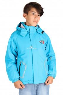 Купить оптом куртку демисезонную для мальчика голубого цвета 029-2Gl в интернет магазине MTFORCE.RU