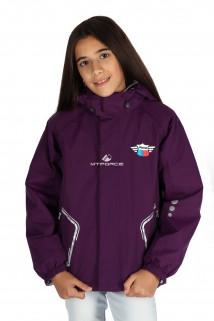 Купить оптом куртку демисезонную для девочки фиолетового цвета 029-3F в интернет магазине MTFORCE.RU