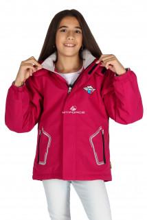 Купить оптом куртку демисезонную для девочки малинового цвета 029-3М в интернет магазине MTFORCE.RU