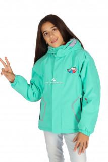 Купить оптом куртку демисезонную для девочки салатового цвета 029-3Sl в интернет магазине MTFORCE.RU